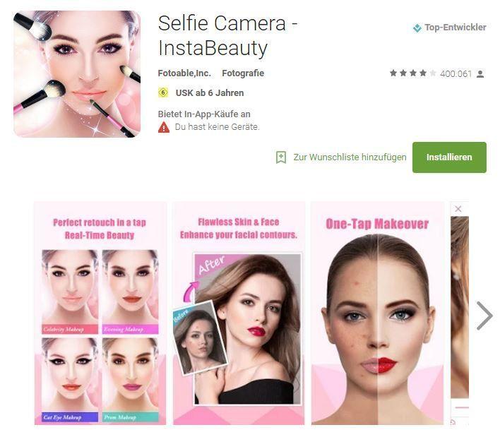 Selfie Camera - Insta Beauty(verfügbar im Google Play Store)-&nb...