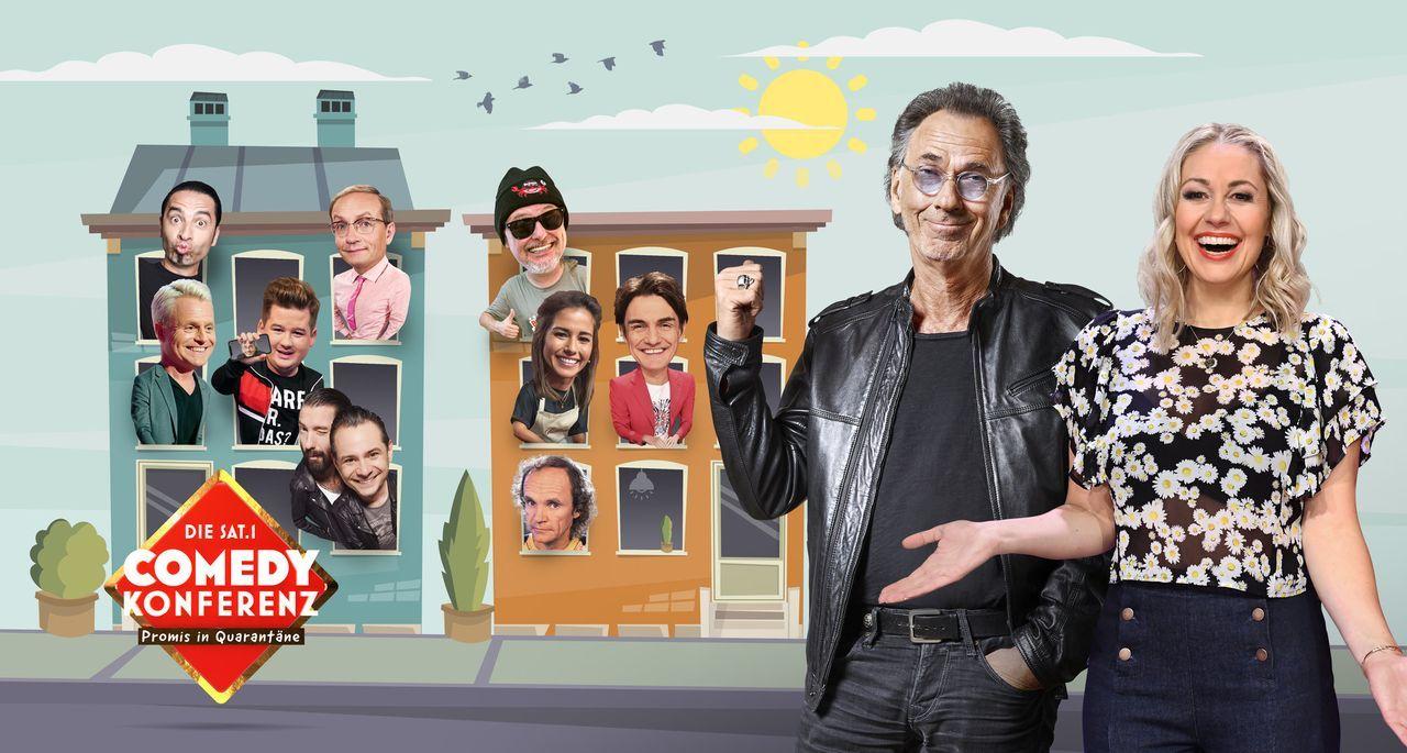 Die SAT.1 Comedy Konferenz - Promis in Quarantäne - Artwork - Bildquelle: Boris Breuer/Willi Weber SAT.1 / Boris Breuer/Willi Weber