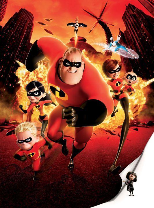 Diese Familie ist nicht zu stoppen (v.l.n.r.): Flash, Violetta, Mr. Incredible, Elastigirl und Baby Jack Jack ... - Bildquelle: Disney/Pixar. All rights reserved