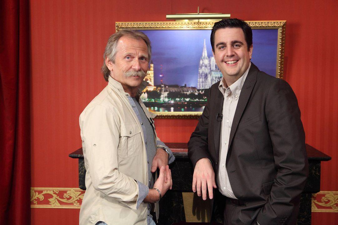 """Werden sie zusammen eine Rolle im """"Tatort"""" spielen? Henning Krautmacher (Henning Krautmacher, l.) und Bastian (Bastian Pastewka, r.) ... - Bildquelle: Frank W. Hempel SAT.1"""