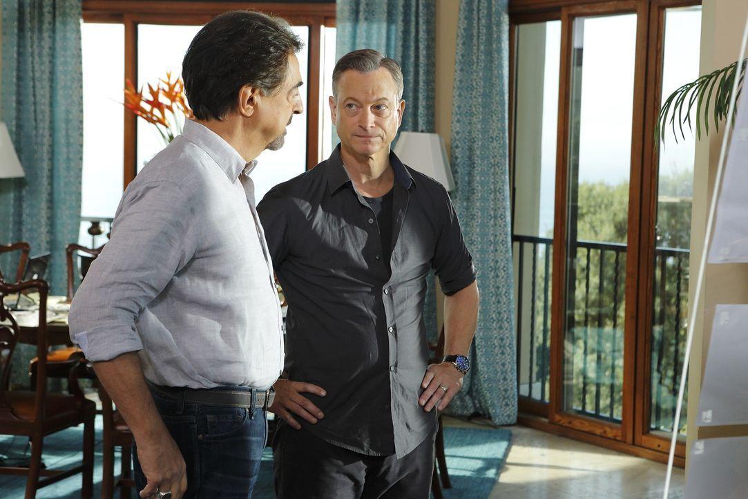 Als eine vierköpfige Familie während eines Urlaubs in Barbados entführt wird, wird das Team um Rossi (Joe Mantegna, l.) gerufen, um Jack Garrett (Ga... - Bildquelle: ABC Studios