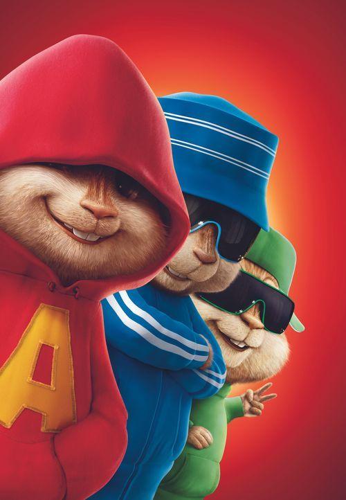 (v.l.n.r.) Alvin, Simon und Theodore sind so verschieden wie Streifenhörnchen nur sein können: der eine ein Draufgänger, der andere smart wie Einste... - Bildquelle: 20th Century Fox