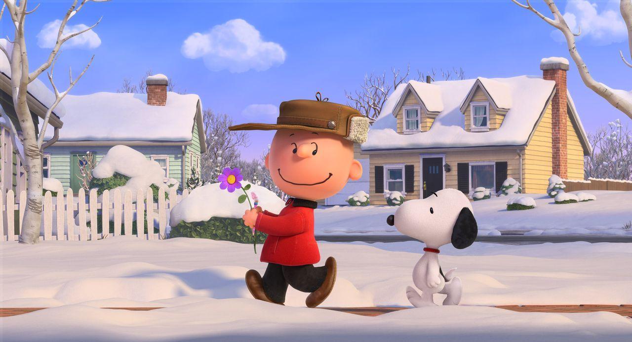 Von seinen Gefühlen beschwingt, beschließt der Pechvogel Charlie Brown, das kleine rothaarige Mädchen endlich anzusprechen. Für seinen Besuch bei ih... - Bildquelle: 2015 Twentieth Century Fox Film Corporation.  All rights reserved.  PEANUTS   2015 Peanuts Worldwide LLC.