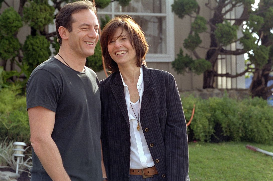 David (Jason Isaacs, l.) und Christine (Catherine Keener, r.) sind erfolgreiche Drehbuchautoren. - Bildquelle: 2006 Sony Pictures Classics Inc. for the Universe excluding Australia/NZ and Scandinavia (but including Iceland). All Rights Reserved.