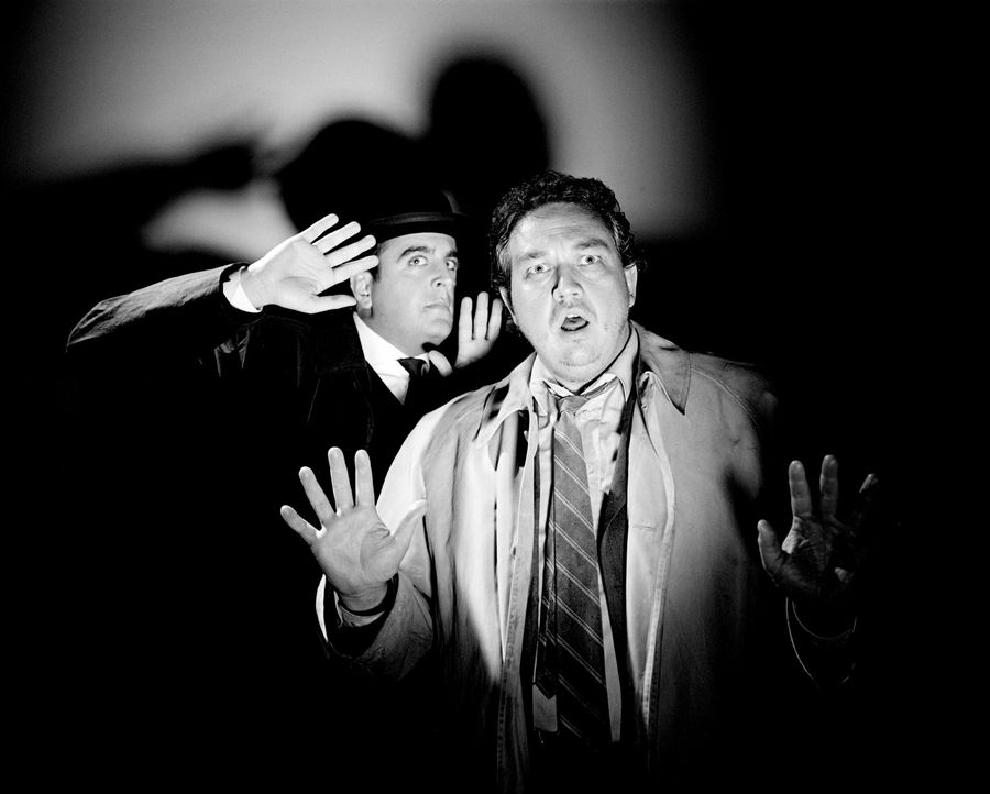 Der Mönch mit der Peitsche, der Frosch mit der Maske, der Bucklige von SoHo, die Bande des Schreckens, der Schwarze Abt und Inspector Very Long (Bas... - Bildquelle: Rat Pack Filmproduktion GmbH