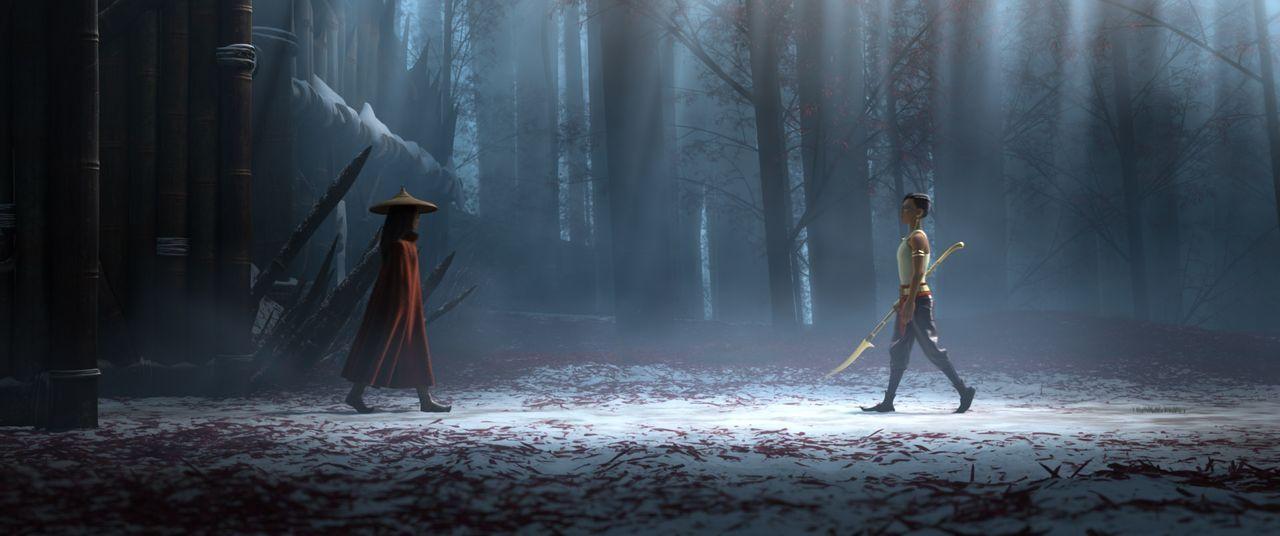 Raya (l.); Namaari (r.) - Bildquelle: 2021 Disney