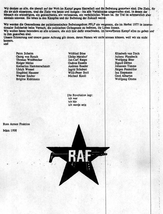 RAF2 - Bildquelle: dpa/picture alliance