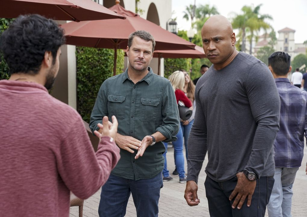(v.l.n.r.) Juda Ayari (George Janko); G. Callen (Chris O'Donnell); Sam Hanna (LL Cool J) - Bildquelle: Sonja Flemming 2019 CBS Broadcasting, Inc. All Rights Reserved. / Sonja Flemming