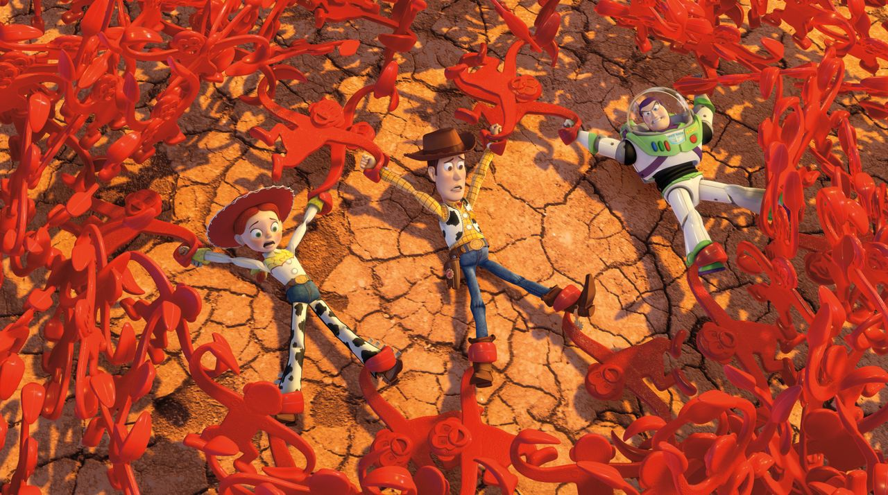 (v.l.n.r.) Jessie; Sheriff Woody; Buzz Lightyear - Bildquelle: Disney/Pixar