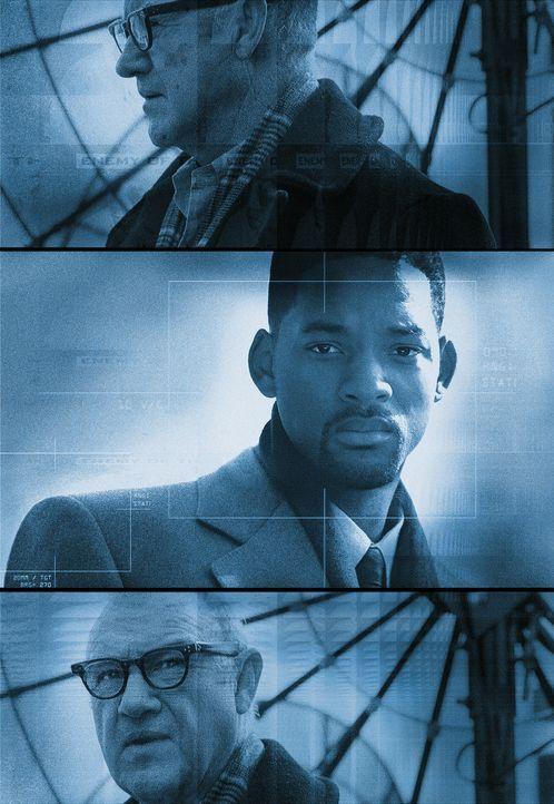 Robert Clayton Dean (Will Smith, M.) befindet sich in einer äußert misslichen Lage. Er bittet den aus dem Geheimdienst ausgeschiedenen Agenten Bri... - Bildquelle: Buena Vista Pictures