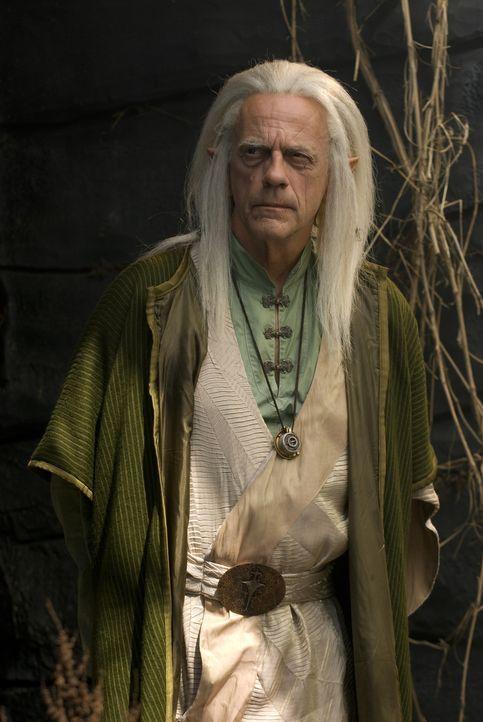 Ein Orakel warnt den Zauberer Tesselink (Christopher Lloyd) vor den düsteren Machenschaften des Tyrannen namens Dragon Eye ... - Bildquelle: 2008 Dragonsteel Films Inc.