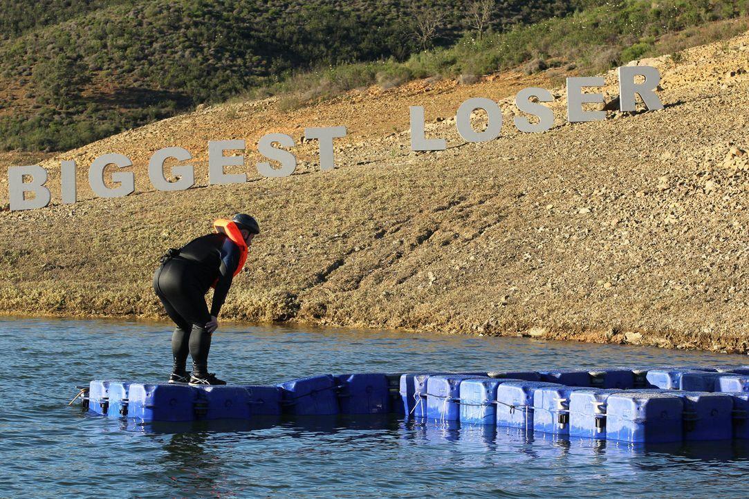 """Wer sichert sich in der Challenge """"Malefiz Schwimmparcours"""" das goldene Ticket für das Finale? - Bildquelle: Enrique Cano SAT.1"""