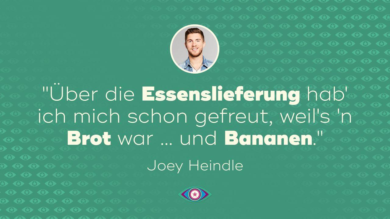 Tag 1: Joey Heindle - Essenslieferung - Bildquelle: SAT.1