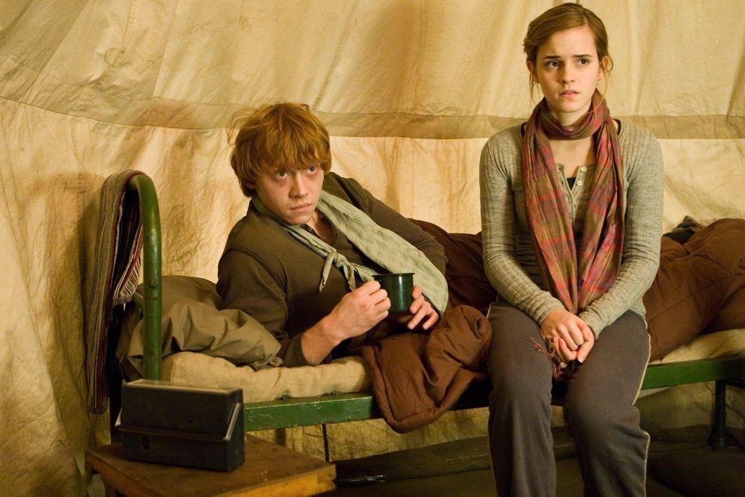 Wird ihre Mission Ron (Rupert Grint, l.) und Hermine (Emma Watson, r.) näher zusammen bringen oder sie weiter voneinander entfernen als je zuvor? - Bildquelle: 2010 Warner Bros.