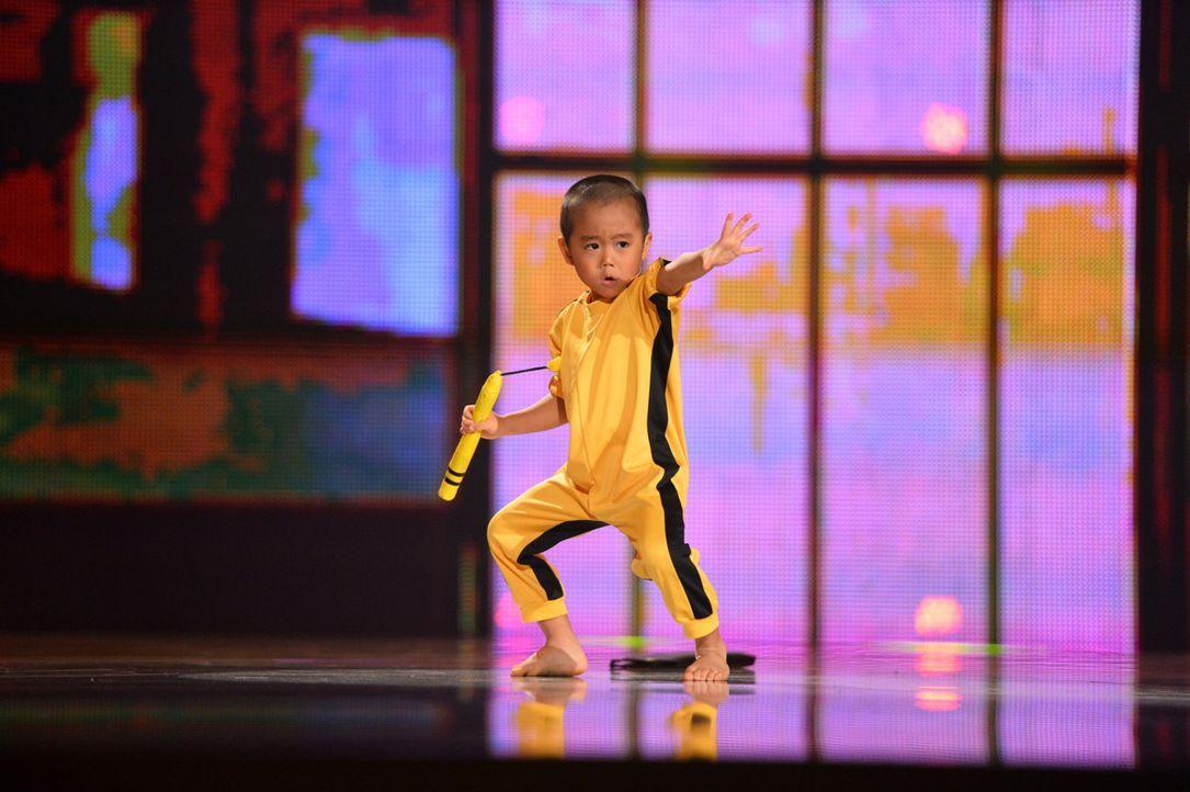"""In """"Superkids - die größten kleinen Talente der Welt"""" stellt Ryusei Imai sein Können unter Beweis ... - Bildquelle: Willi Weber SAT.1"""
