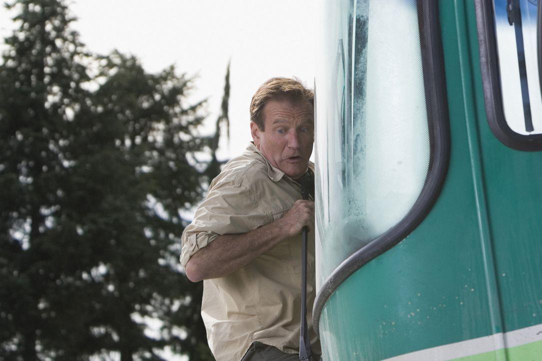 Alles, was schief gehen kann, geht schief, denn der völlig überforderte Bob (Robin Williams) muss in den Rocky Mountains fernab der Zivilisation n... - Bildquelle: Sony Pictures Television International. All Rights Reserved.