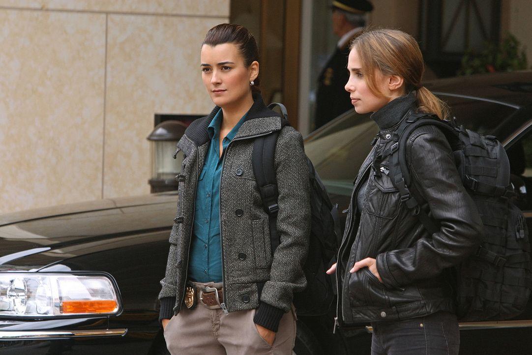 Fremde Feinde: Ziva (Cote de Pablo, l.) und Mossad Officer Liat Tuvia (Sarai Givaty, r.) ... - Bildquelle: CBS Television