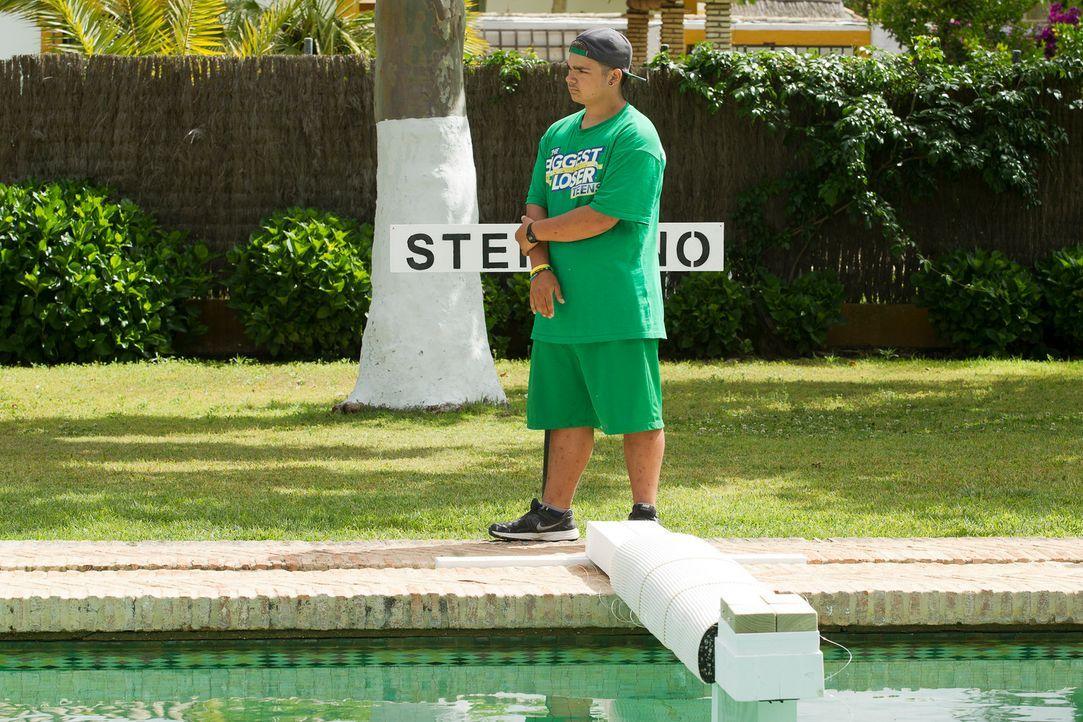 Stephano sieht der neuen Balance-Challenge mit Skepsis entgegen ... - Bildquelle: Enrique Cano SAT.1