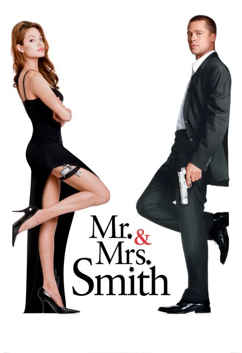 Mr. & Mrs. Smith - Artwork - Jane Smith (Angelina Jolie, l.); John Smith (Brad Pitt, r.) - Bildquelle: TM and © 2005 by Regency Entertainment (USA), Inc. and Monarchy Enterprises S.a.r.l. Not for sale or duplication.