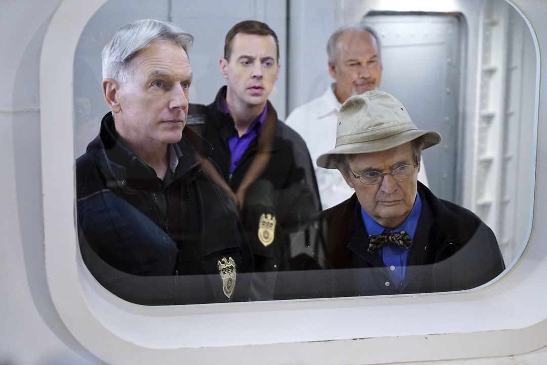Müssen einen neuen Fall lösen - der es in sich hat: Gibbs (Mark Harmon, l.), McGee (Sean Murray, 2.v.l.), Ducky (David McCallum, r.) und Captain RJ... - Bildquelle: Sonja Flemming 2016 CBS Broadcasting, Inc. All Rights Reserved
