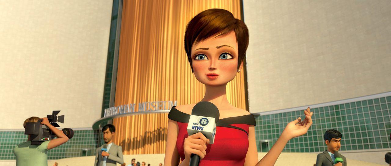 Seit dem Metroman besiegt wurde, muss Roxanne Ritchie (M.) von der neuen Supermacht Megamind berichten. Viel passiert jedoch nicht, bis Titan in Met... - Bildquelle: MEGAMIND TM &   2012 DreamWorks Animation LLC. All Rights Reserved.