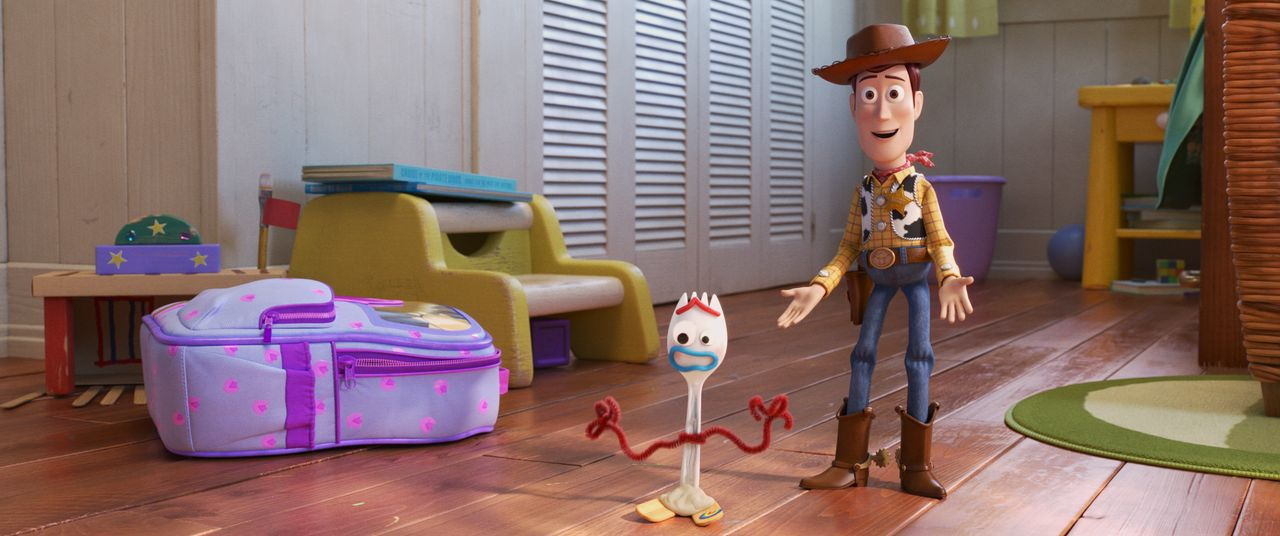 Forky (l.); Woody (r.) - Bildquelle: 2019 Dinsey/Pixar. All Rights Reserved.