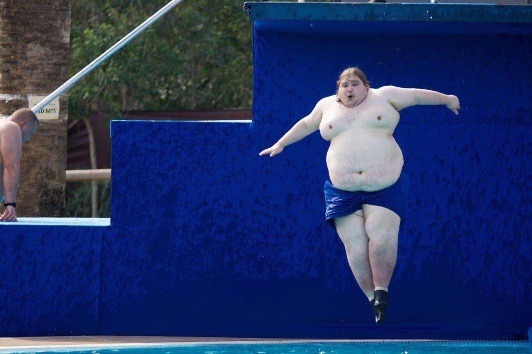 Immer wieder die Treppe rauf und runter: Mark gibt nicht auf ... - Bildquelle: Enrique Cano SAT.1