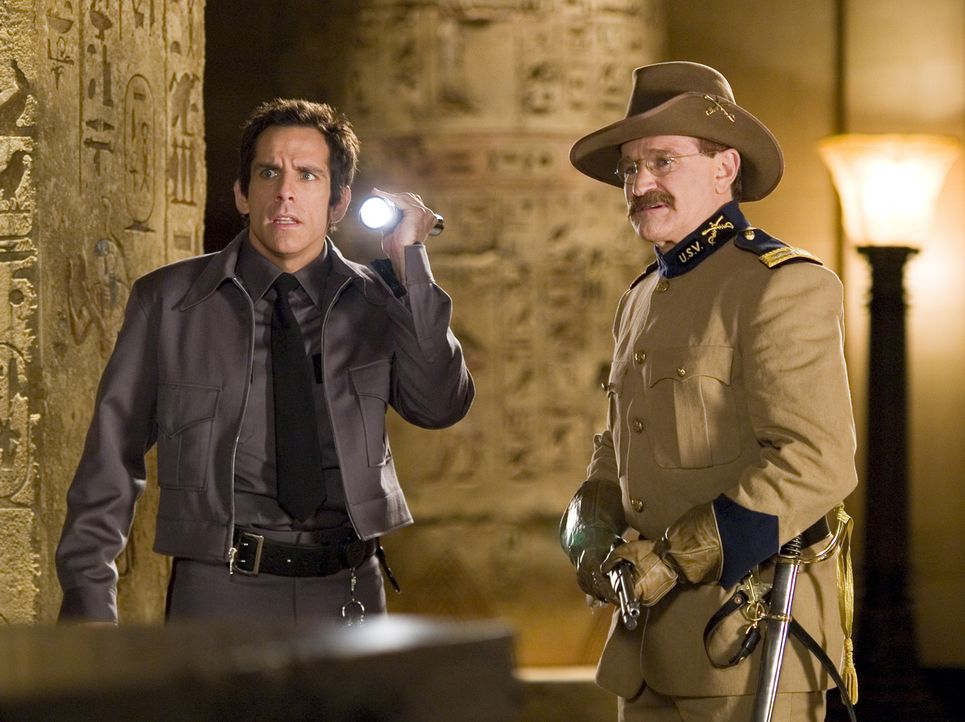 Larry Daley (Ben Stiller, l.); Teddy Roosevelt (Robin Williams, r.) - Bildquelle: 2006 Twentieth Century Fox Film Corporation.  All rights reserved.