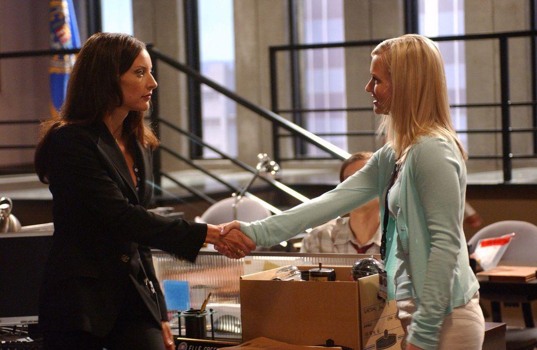 """Gemeinsam mit ihrem Team, versuchen Jennifer """"J.J."""" Jareau (A.J. Cook, r.) und Elle Greenway (Lola Glaudini, l.) einem Serienbrandstifter das Handwe... - Bildquelle: Touchstone Television"""
