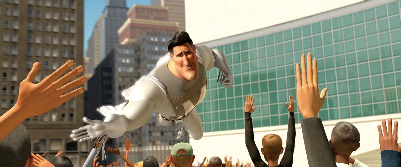 Noch hat Mega City einen Superhelden, der alle Menschen vor dem Bösen beschützt: Metroman ... - Bildquelle: MEGAMIND TM &   2012 DreamWorks Animation LLC. All Rights Reserved.