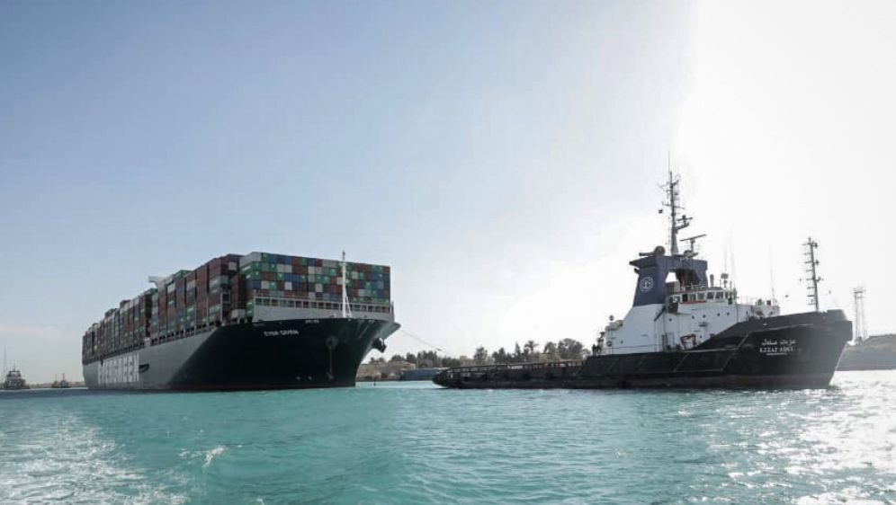 - Bildquelle: -/Suez Canal Authority/dpa