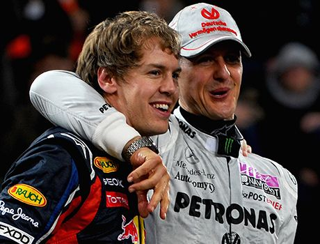 Das Race of Champions 2012: Sebastian Vettel (li.) und Michael Schumacher - Bildquelle: 2011 Getty Images
