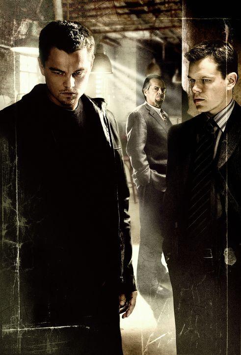 Der junge Ermittler Billy Costigan (Leonardo DiCaprio, l.) erhält den Auftrag, sich als Undercover-Agent in das Syndikat des Unterweltbosses Frank C... - Bildquelle: Warner Bros. Entertainment Inc