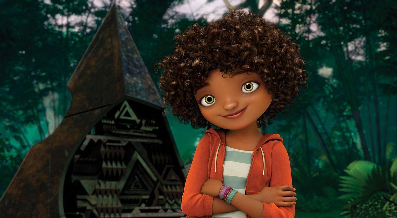 Der Außerirdische Oh muss ein Missgeschick von sich wieder ausbügeln und begibt sich deshalb, gemeinsam mit dem Teenager-Mädchen Tip (Bild), auf ein... - Bildquelle: 2015 DreamWorks Animation, L.L.C.  All rights reserved.