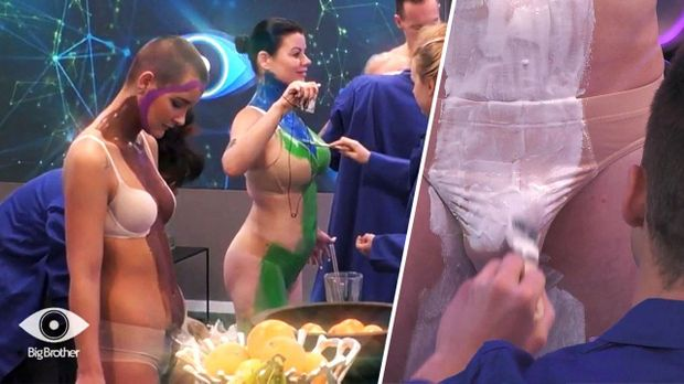 Big Brother - Big Brother - Folge 24: Intime Berührungen Beim Bodypainting