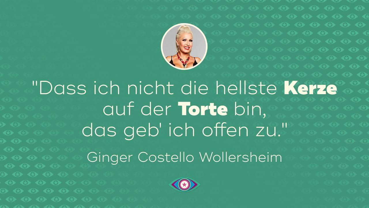 Einzug: Ginger Costello Wollersheim - Bildquelle: SAT.1