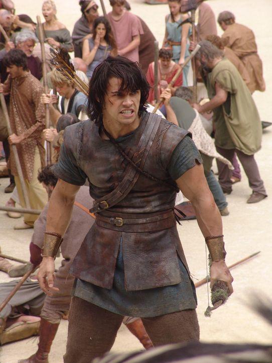Todesmutig sieht Hercules (Paul Telfer) der Gefahr ins Auge ... - Bildquelle: Ken George Hallmark Entertainment