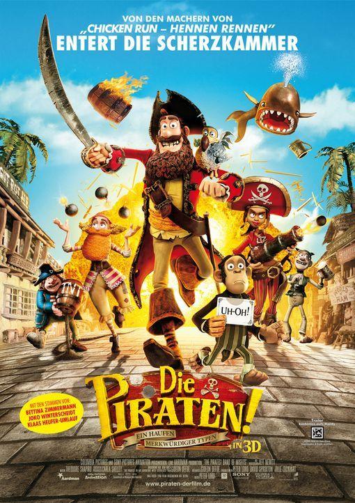 Die Piraten - ein Haufen merkwürdiger Typen - Plakatmotiv - Bildquelle: 2012 Sony Pictures Animation Inc. All Rights Reserved.
