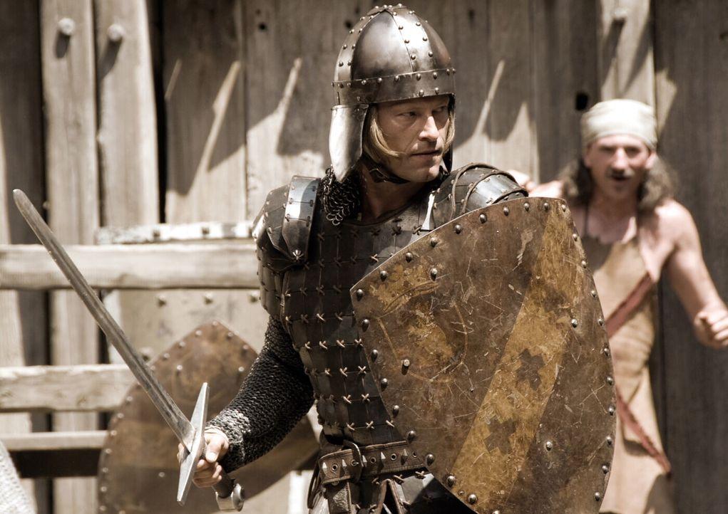 Für die reizende Herzelinde, nimmt der ehrenwerte Ritter Lanze (Til Schweiger, vorne) den Kampf gegen das Böse auf ... - Bildquelle: Warner Brothers