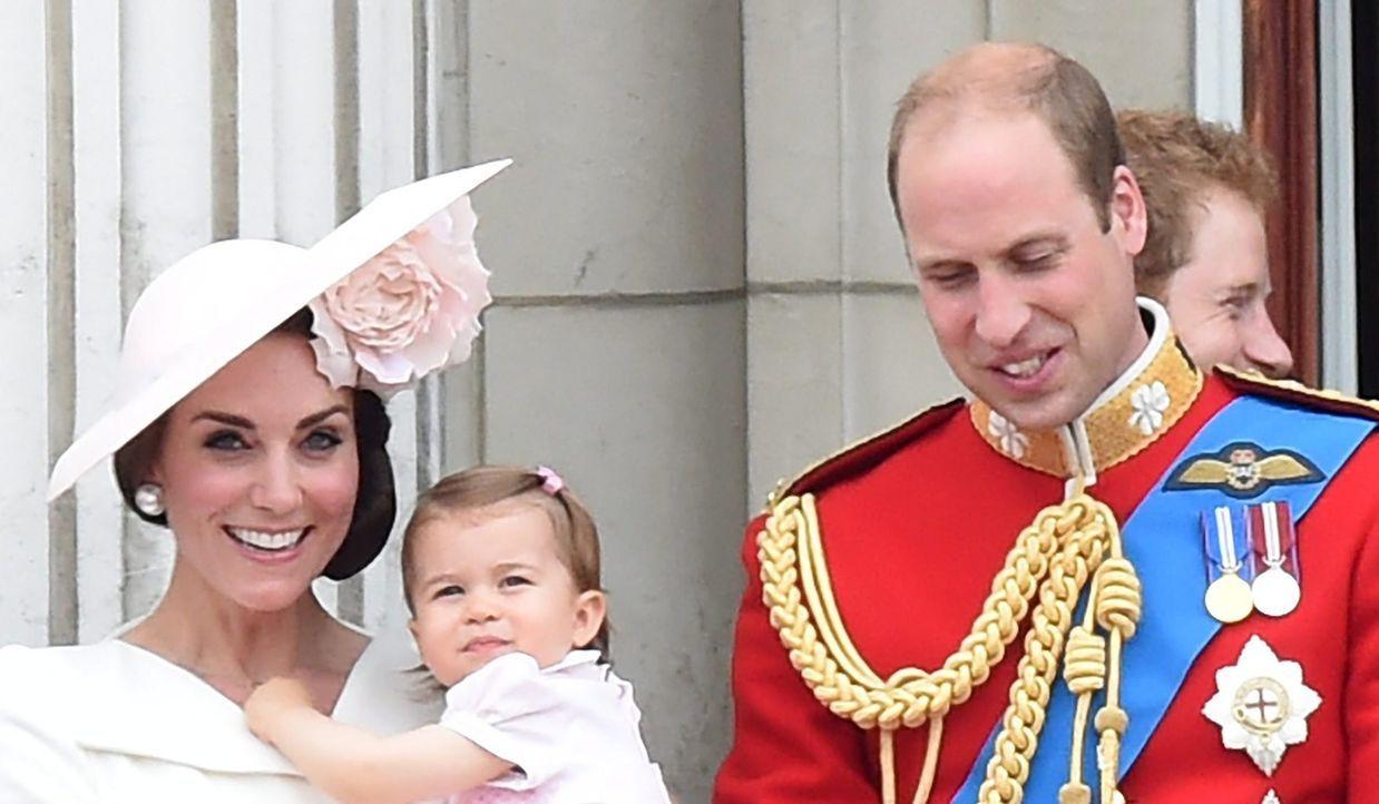 Herzogin Kate, Prinzessin Charlotte, Prinz William - Bildquelle: dpa