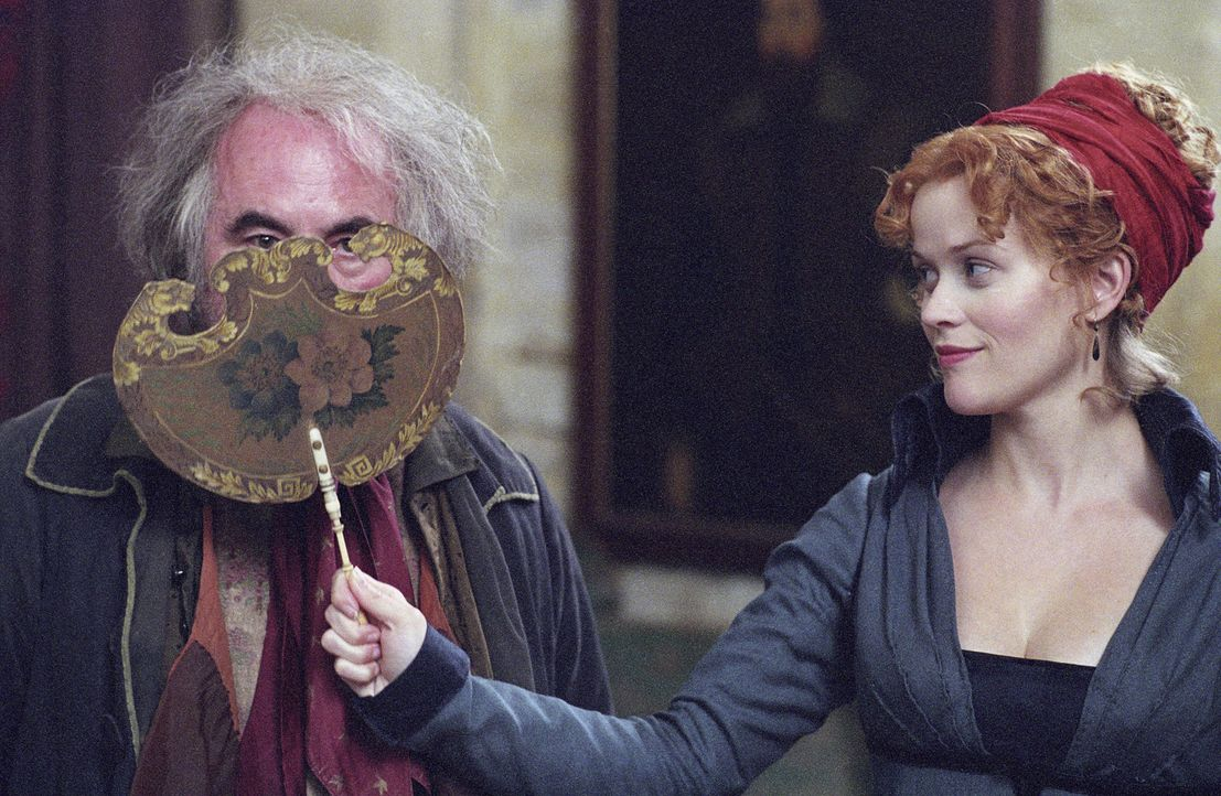 Die Vollwaise Becky Sharp (Reese Witherspoon, r.), Tochter eines verarmten britischen Künstlers und einer französischen Sängerin, ist zwar arm, a... - Bildquelle: Granada Film Productions