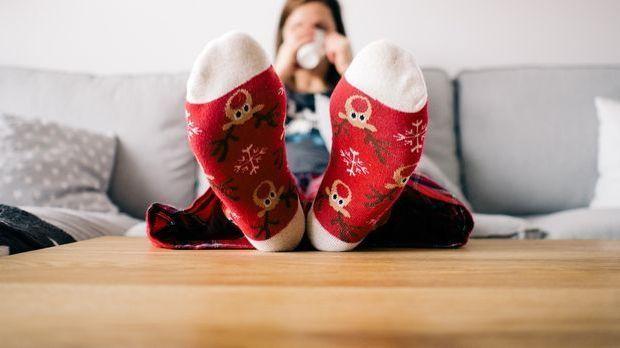 Sofa und Socken