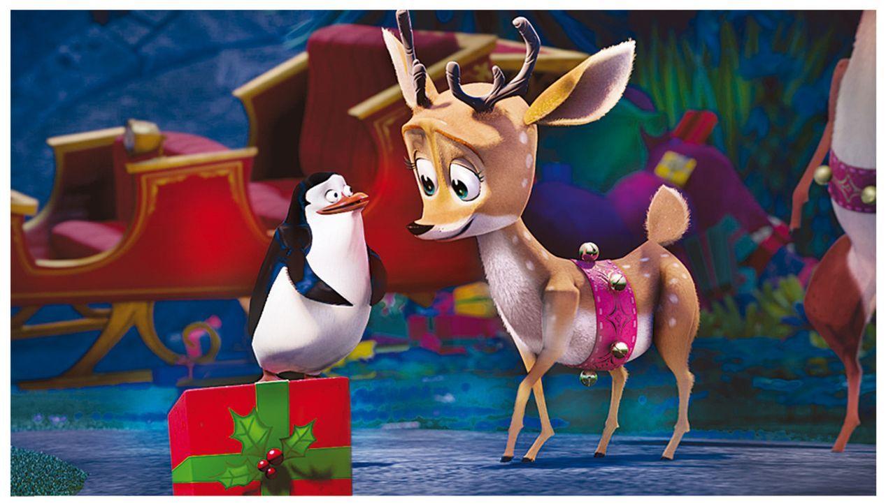 Kann der Pinguin (l.) das Rentier (r.) davon überzeugen, die Geschenke doch noch auszuliefern? - Bildquelle: United International Pictures (UIP)