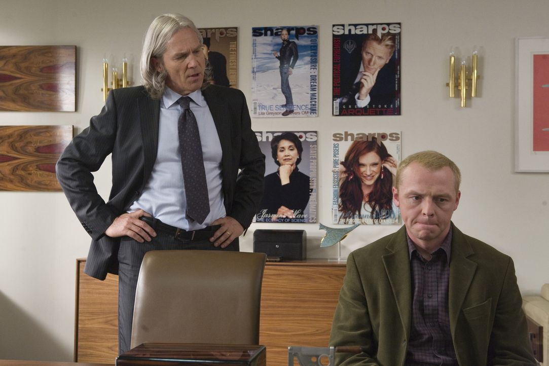 Sidney Young (Simon Pegg, r.) scheitert in London mit seinem eigenen Magazin, träumt aber nach wie vor davon, in die Welt der Celebrities einzutauch... - Bildquelle: UK Film Council/ Channel Four Television Corporation /Alienate Limited 2008