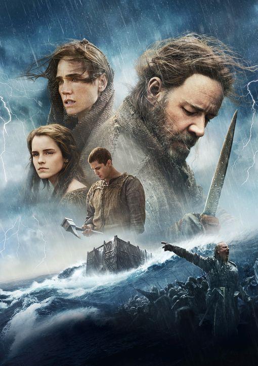 Noah - Artwork - Gott will das Leben auf der Erde durch eine Sintflut vernichten und verlangt von Noah (Russell Crowe, oben r.) und seiner Familie (... - Bildquelle: 2014 Paramount Pictures Corporation. All rights reserved.