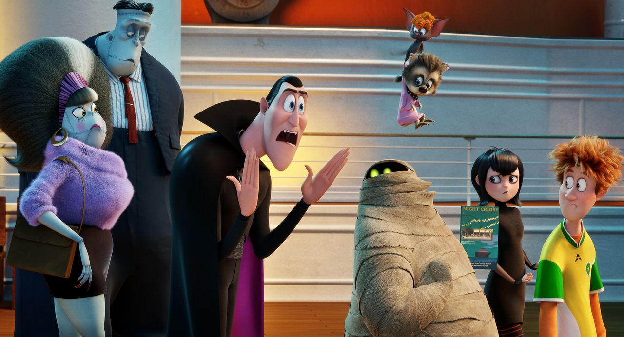 (v.l.n.r.) Eunice; Frankenstein; Graf Dracula; Murray; Mavis; Johnny - Bildquelle: 2018 Sony Pictures Animation Inc. and MRC II Distribution Company L.P. All Rights Reserved.