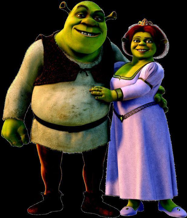 Die überglücklichen Frischverheirateten Shrek, l. und Fiona, r. haben keine Ahnung, dass ihre Hochzeit alle Zukunftspläne ihres Vaters vereitelt... - Bildquelle: DreamWorks SKG