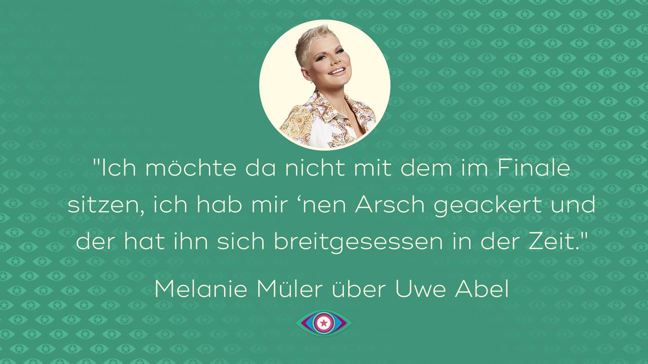 Melanie Müller über Uwe Abel