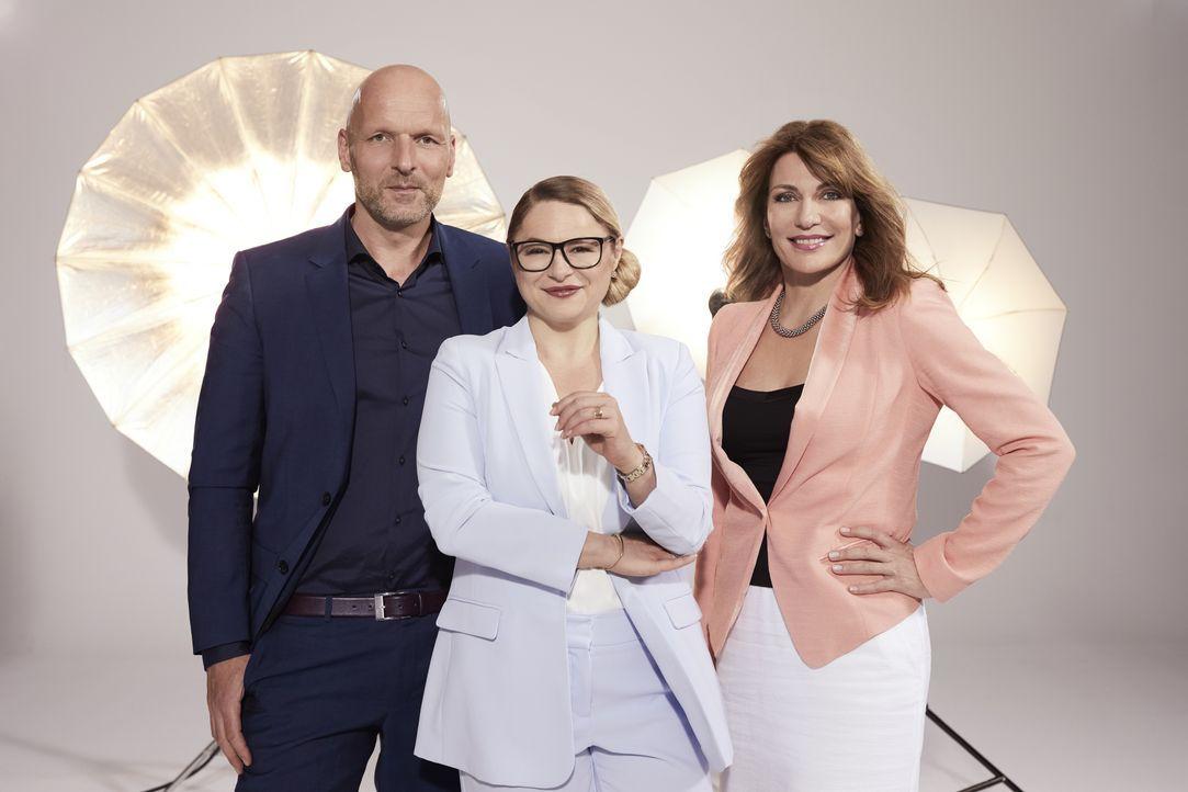 (v.l.n.r.) Markus Ernst; Dr. Sandra Köhldorfer; Beate Quinn - Bildquelle: Benedikt Müller SAT.1 / Benedikt Müller