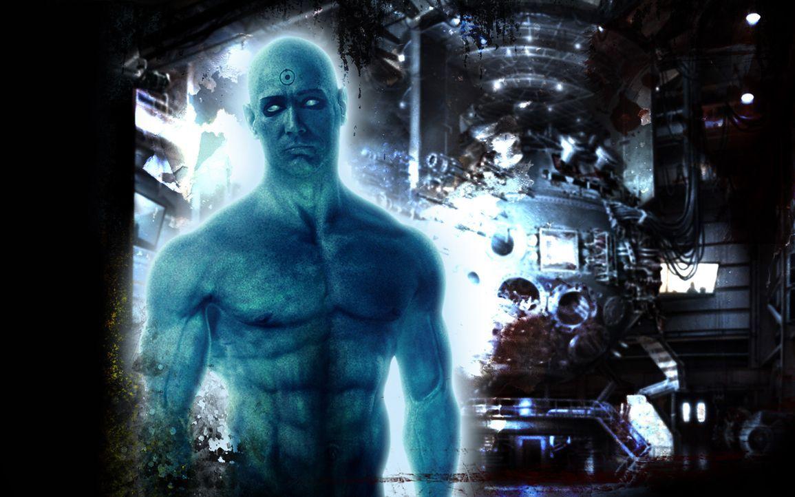Er ist der einzige Superheld, der über übermenschliche Kräfte verfügt: Dr. Manhattan (Billy Crudup) besitzt die Gabe der Transmutation, der Telekine... - Bildquelle: Paramount Pictures